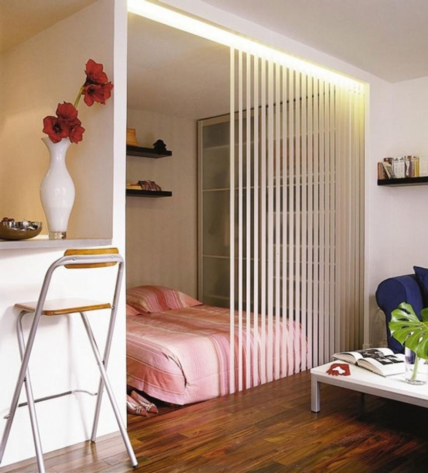 Гостиная и спальня в одной комнате - зонирование и дизайн ин.
