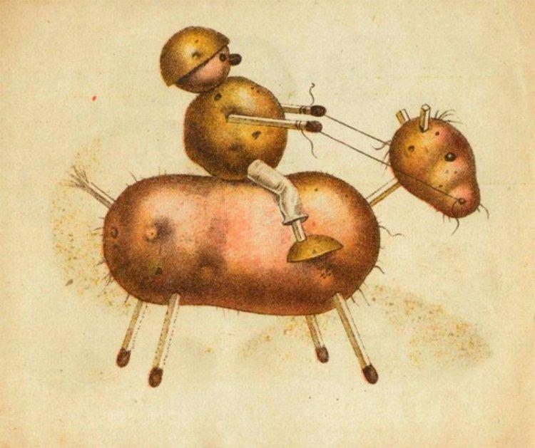 Игрушки из картошки своими руками 40
