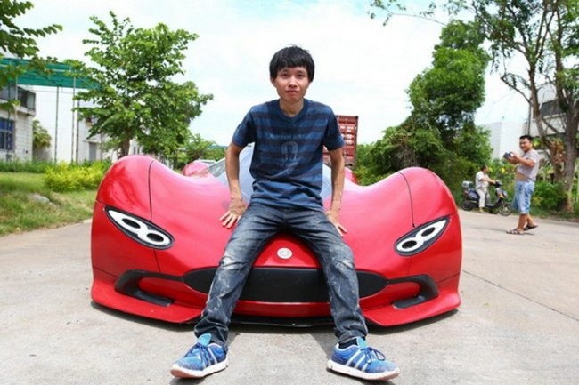 Китаец смог самостоятельно собрать автомобиль мечты